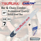 "20"" 3/8 .063 72DL TSUMURA PRO Bar & CARLTON Chain Combo fits Stihl -FREE POSTAGE"