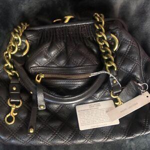 Genuine Marc Jacobs Quilted Stam Bag Dark Plum