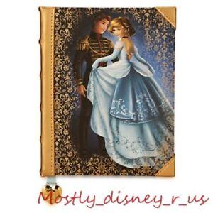 New Disney Store Cinderella & Prince Fairytale Designer Journal Notebook Book