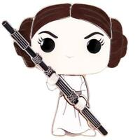IN STOCK! Star Wars Princess Leia Large Enamel Pop! Pin by Funko