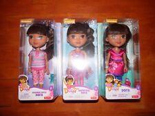 DORA THE EXPLORER & FRIENDS Set of 3 Dolls Ballerina Slumber Party Dora NEW