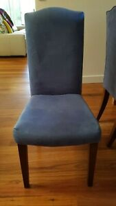 Dining Chairs - Dare Gallery - Genuine Suede - French Provincial Style x 8