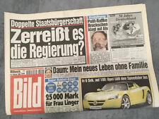Bildzeitung vom 10.02.1999 * 19. 20. Geburtstag Geschenk * Christoph Daum