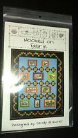 """Hooked on fabric pattern quilt 68""""x 84"""" finished Quilt County QC199 New"""