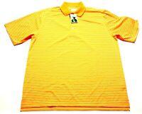Donald Ross New Mens Orange Striped Short Sleeve Polo Shirt Size Large