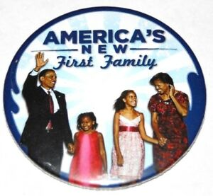 2008 BARACK MICHELLE OBAMA campaign pin pinback button political presidential