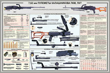 "Russian AK 7,62 MM KALASHNIKOV GUN SMALL ARM 8,5X11 ""Military PRINT POSTER"