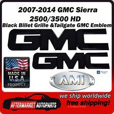 2007-2014 Sierra 2500 HD Black Billet GMC Grille & Tailgate Emblem AMI 96511K