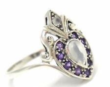 Anillos de joyería con gemas de piedra de luna