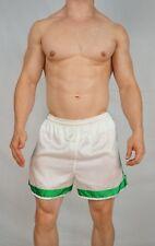 RARE! Adidas Satin White & Green Nylon Soccer Shorts (GREAT CONDITION) MEDIUM