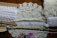 GUIPURE LACE 12-50mm Wide 3, 5 & 10 Metre Lengths - 6 Style Choice BW3
