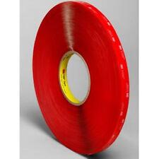 "3M VHB Tape 4910, 1/2"" x 36 Yard Rl, Double Sided Clear Acrylic Foam Tape, 40Mil"