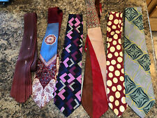6 TRUE VINTAGE AUTHENTIC LOTS 1940s - 1950's - 1960's - Swing Ties - Retro