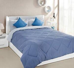 Microfibre Reversible Comforter, Single (Ocean Blue and Mild Blue,200 GSM