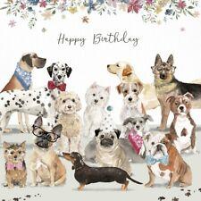 Dog Lovers Luxury Birthday Card Westie Dachshund Cockapoo Pug Labrador Bulldog