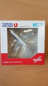 "Herpa 533768 - 1/500 Turkish Airlines Boeing 737 Max 8 ""Tokat"" - Neu"