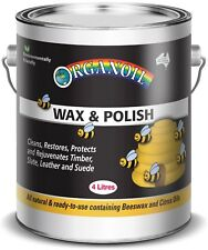 Organoil Natural Wax & Polish 4lt rejuvenates & protects interior timbers