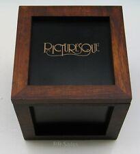 New Harmony Kingdom Box Frame Hinged Wooden Cube Framed Magetic Holds 5 Tile Nib