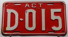 Nummernschild Australien ACT Canberra,D=Dealer/Händler 80/90er Jahre.11985