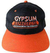 Gypsum Express Ltd Limited Trucking Snapback Adjustable Hat Black Red 6 Panel