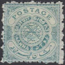 HYDERABAD INDIAN STATE ¼a PALE BLUE GREEN, SG 22c, LH MINT CV £ 28.00