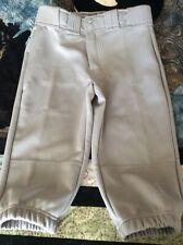 Boy's Easton Gray Yl Knee Length Baseball Pants Knicker Style