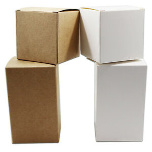 100pcs White / Brown Kraft Paper Box Party Gift Wedding Candy Jewelry Pack Boxes