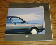 Original 1988 Volkswagen VW Fox Deluxe Sales Brochure 88