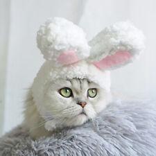 Funny Pet Dog Cat Cap Costume Warm Rabbit Ear Hat Christmas Cosplay Headwear