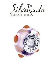 Genuine SilveRado 925 silver PINK URCHIN Murano charm bracelet bead, holiday