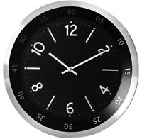 PERFECT Wall Clock Metal Case Modern Design Home Office Decoration HQ