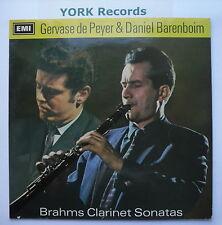 ASD 2362 - BRAHMS - Clarinet Sonatas DE PEYER / BARENBOIM - Ex Con LP Record