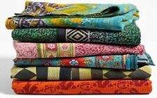 Vintage Handmade Kantha Quilt Handmade Blanket X Queen One Indian