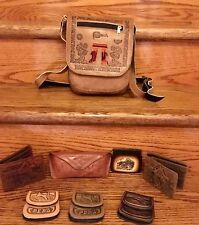 Peruvian Leather Purses, Wallets, Coin Holders, Bookmarks