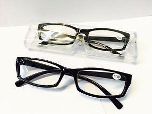 Lesebrille Brille Lesehilfe+1.0+1.5+2.0+2,5+3.0+3.5+4,0 Schwarz mit Etui