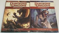 Lot of 2 D&D Draconomicon: Chromatic Dragons & Metallic Dragons 4th Edition