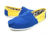TOMS MEN'S CLASSIC SLIP-ON UNIVERSITY CANVAS SHOES UCLA BLUE/YELLOW MEDIUM NEW