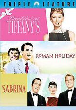 Audrey Hepburn Collection (DVD, 2007) Breakfast/Roman Holiday/Sabrina NEW Sealed