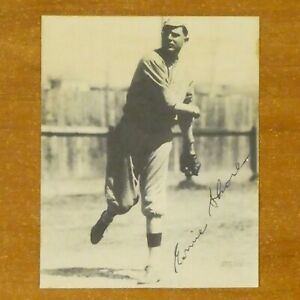 Ernie Shore Signed 3 5/8 x 4 1/2 Played with Babe Ruth 1915-17 Perfect Game