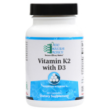 Ortho Molecular Products Vitamin K2 with D3, 60 Capsules exp. 08/19