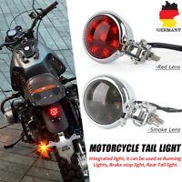 Motorrad LED Rücklicht Bremsleuchte Chrom Für Motorrad Cafe Racer Retro Bobber