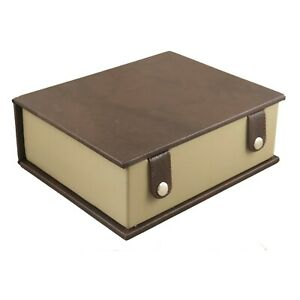 """Book Style Storage Box For Chess pieces upto 4.2"""" King chessmen set- Leatherette"""