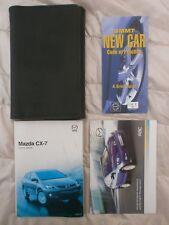 MAZDA CX 7 HANDBOOK MANUAL + WALLET 2006 - pre f/lift 2009
