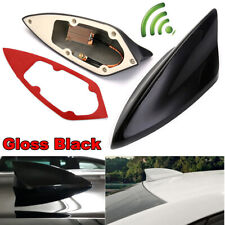 Universal Black Car Shark Fin FM/AM Signal Antenna Roof Radio Aerial Replacement
