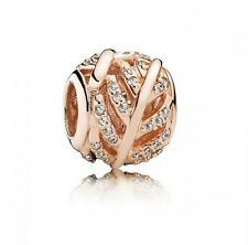 S925 EURO Charm 14K Rose Gold Pl Light as a Feather Wing by Pandora's Angels