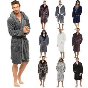 Mens Robe Dressing Gown Mens Bath Robe Mens Hooded Robe Mens Fleece Robes