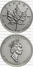 03938] CANADA - 5 DOLLAR 1993 - FOGLIA ACERO - ONCIA ARGENTO PURO 1993 _ KM# 187
