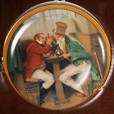 "Knowles Collector Plate ""Clinching The Deal"" Norman Rockwell 1987 Limited Edit"