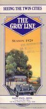 1929 Saint Paul Mn The Gray Line Bus Tours Brochure