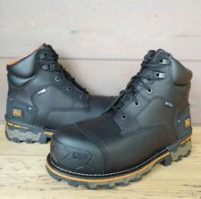 """Timberland PRO 6"""" Mens Boondock Comp Toe WP Work Boots Size 9 Wide Black A1FZP"""